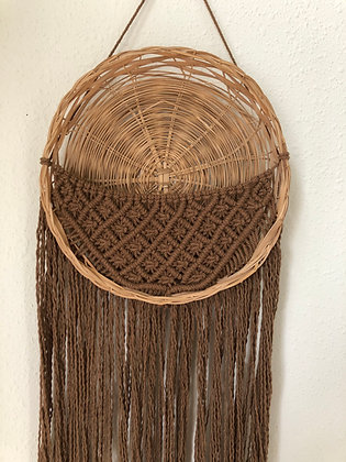 Macrame wall basket