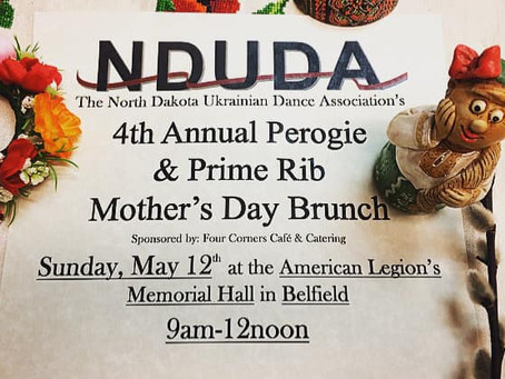The 4th Annual NDUDA Perogie & Prime Rib Mother's Day Brunch
