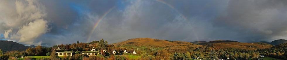 2021 October 6th, Chalet panorama, evening, rainbow.jpg
