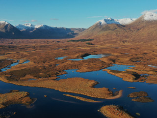 The Black Mount chain from over Loch Ba