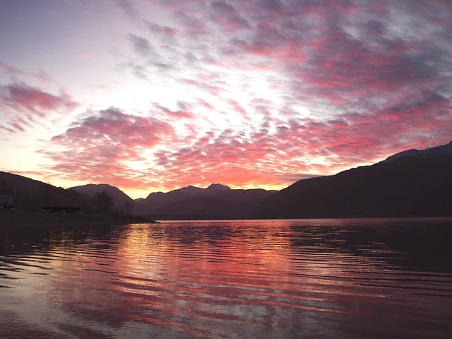Sunrise from Onich