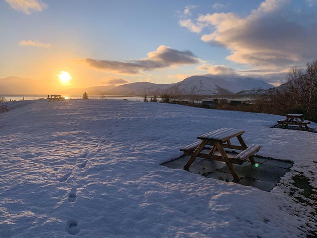 Winter Sunset from Inchree
