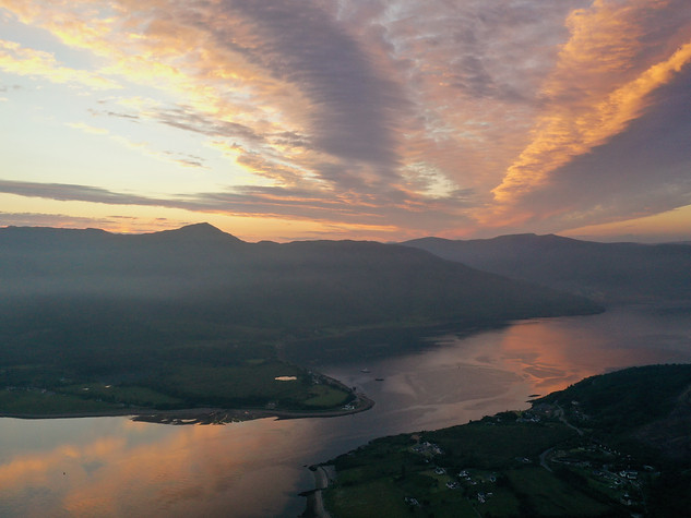 Sunset over Ardgour & Onich