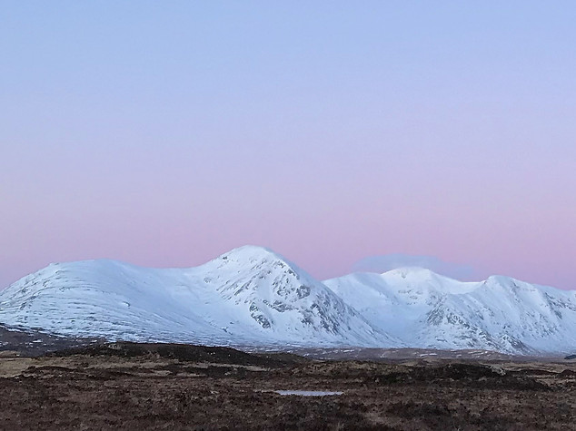 The Black Mount at Sunrise