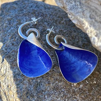 WINTER BLUE SHELL EARRINGS