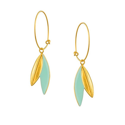 DROPED LEAVES EARRINGS