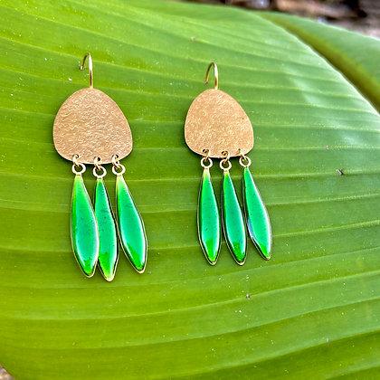 AEOLIAN KELLY GREEN EARRINGS