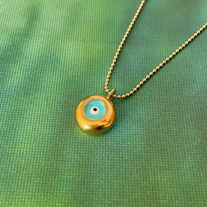 ROUNDED EYE CHAIN NECKLACE