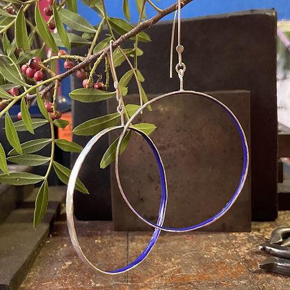 BISTRO BLUE HOOP EARRINGS