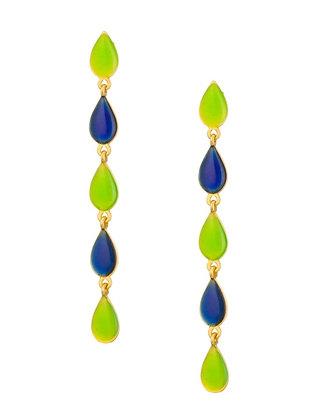 NEON GREEN BLUE EARRINGS