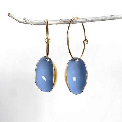 PALE BLUE PISTACHIO EARRINGS