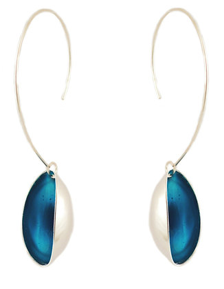 CRYSTAL BLUE PISTACHIO EARRINGS