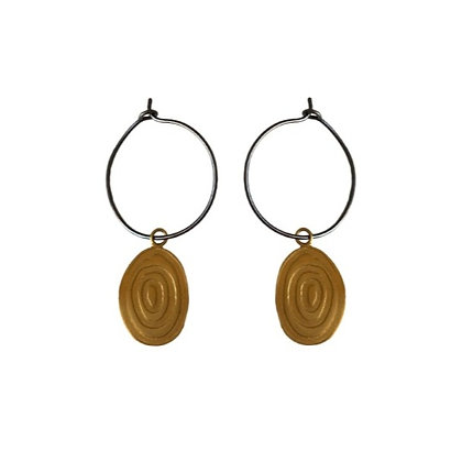 OVAL CONCENTRIC EARRINGS