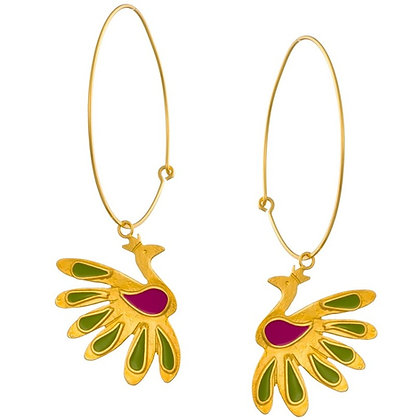 BOHEMIAN PEACOCKS ON HOOPS