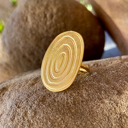 OVAL RIPPLES RING