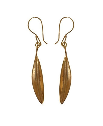 SMALL GOLDEN LEAVES EARRINGS