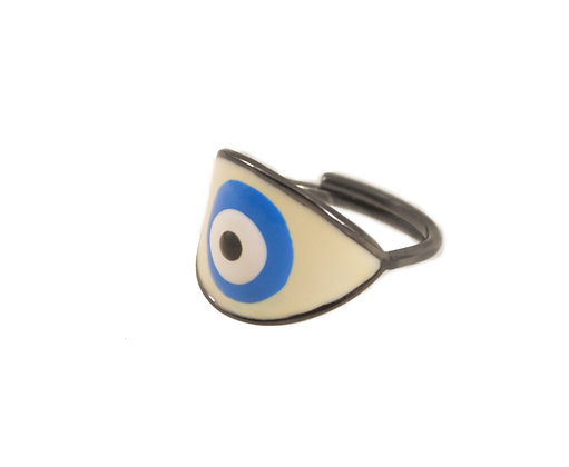 GLACIER LAKE EVIL EYE RING