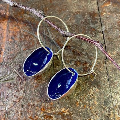 BOLD BLUE SMALL PISTACHIO EARRINGS