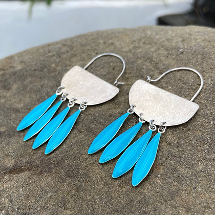 CARRIBEAN BLUE NAVAJO EARRINGS