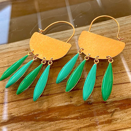 JADE GREEN NAVAJO EARRINGS