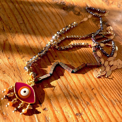 EXOTIC EVIL EYE NECKLACE