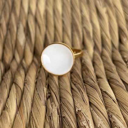 WHITE DOT RING