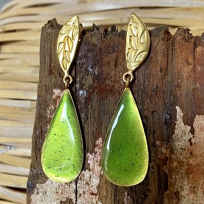 KIWI GREEN DROP EARRINGS
