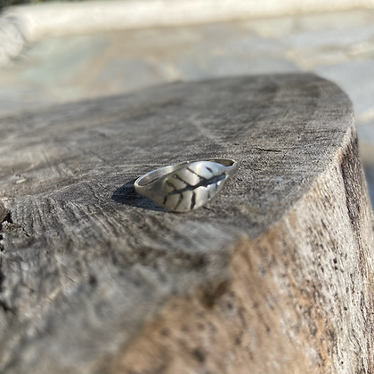 SMALL LEAF UNISEX RING