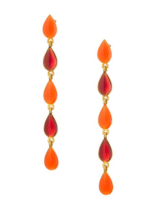 TANGERINE SCARLET EARRINGS