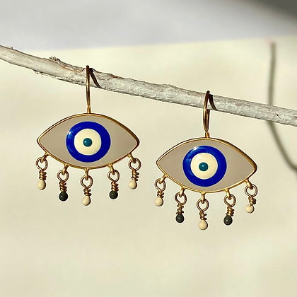 ASH GREY RAINY EYES EARRINGS