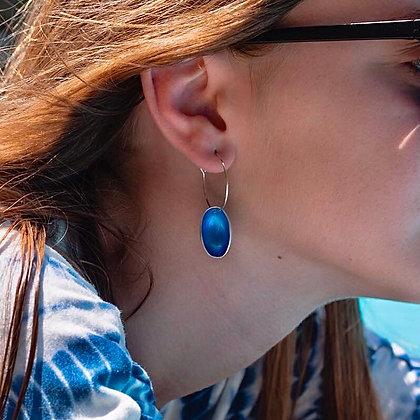 OCEAN BLUE MINI PISTACHIO EARRINGS