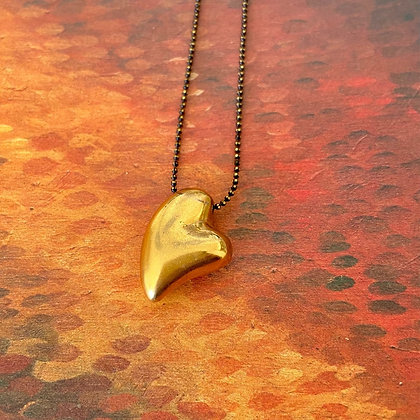 SOLID HEART CHAIN NECKLACE