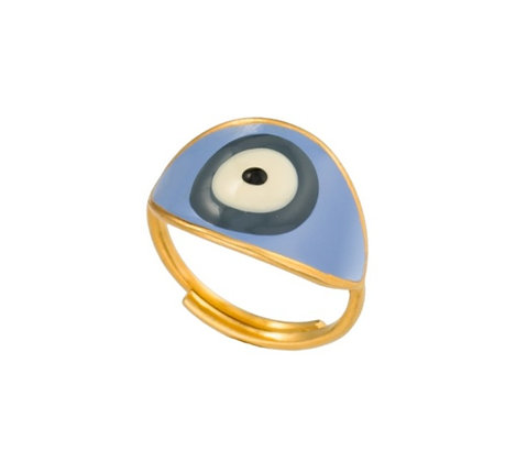 MEDITERRANEAN SKY EVIL EYE RING