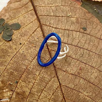 COBALT BLUE OVAL RING