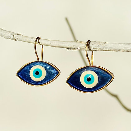 CRYSTAL BLUE EYES EARRINGS
