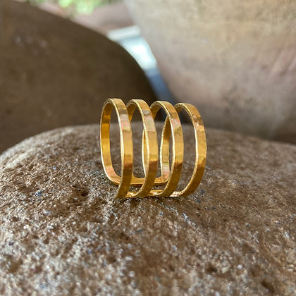 RAY OF LIGHT GOLD RING