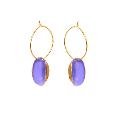 LILAC SMALL PISTACHIO EARRINGS