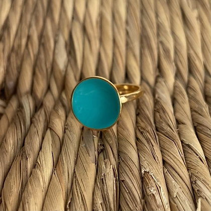 EXOTIC BLUE GREEN DOT RING