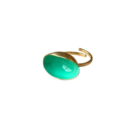 CARIBBEAN GREEN MINI PISTACHIO RING