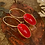 Thumbnail: LOVE RED SMALL PISTACHIO EARRINGS