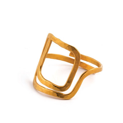 SQUARE SPIRAL RING