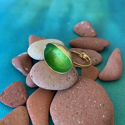 CHARMED GREEN MINI PISTACHIO RING