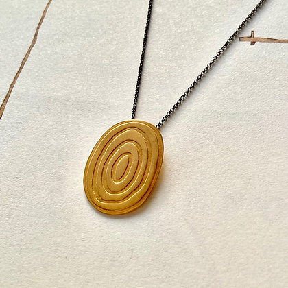 SPIRAL DISC NECKLACE