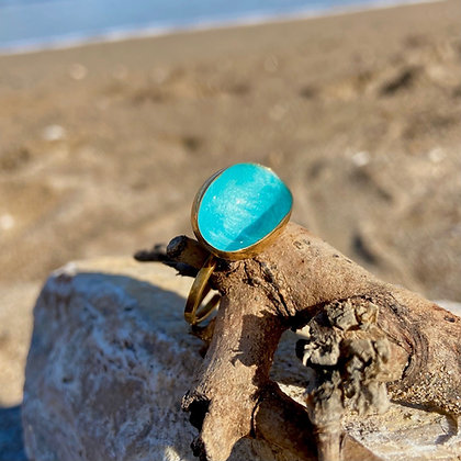 SEASIDE BLUE MINI PISTACHIO RING