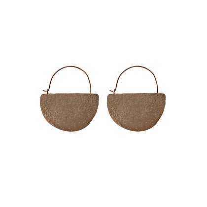 ROSEGOLD NEBRA DISK EARRINGS