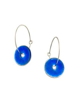 ULTRAMARINE BLUE SMALL DISC EARRINGS