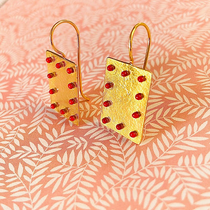 RED DOTTED EARRINGS