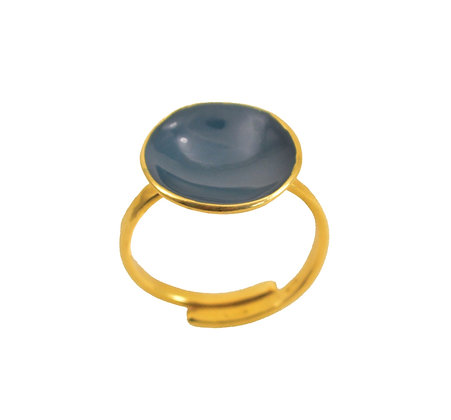 DENIM DOT RING