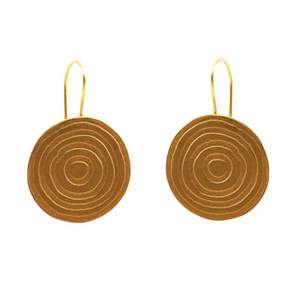 CONCENTRIC EARRINGS WITH HOOKS