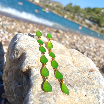CLEAR LIME EARRINGS